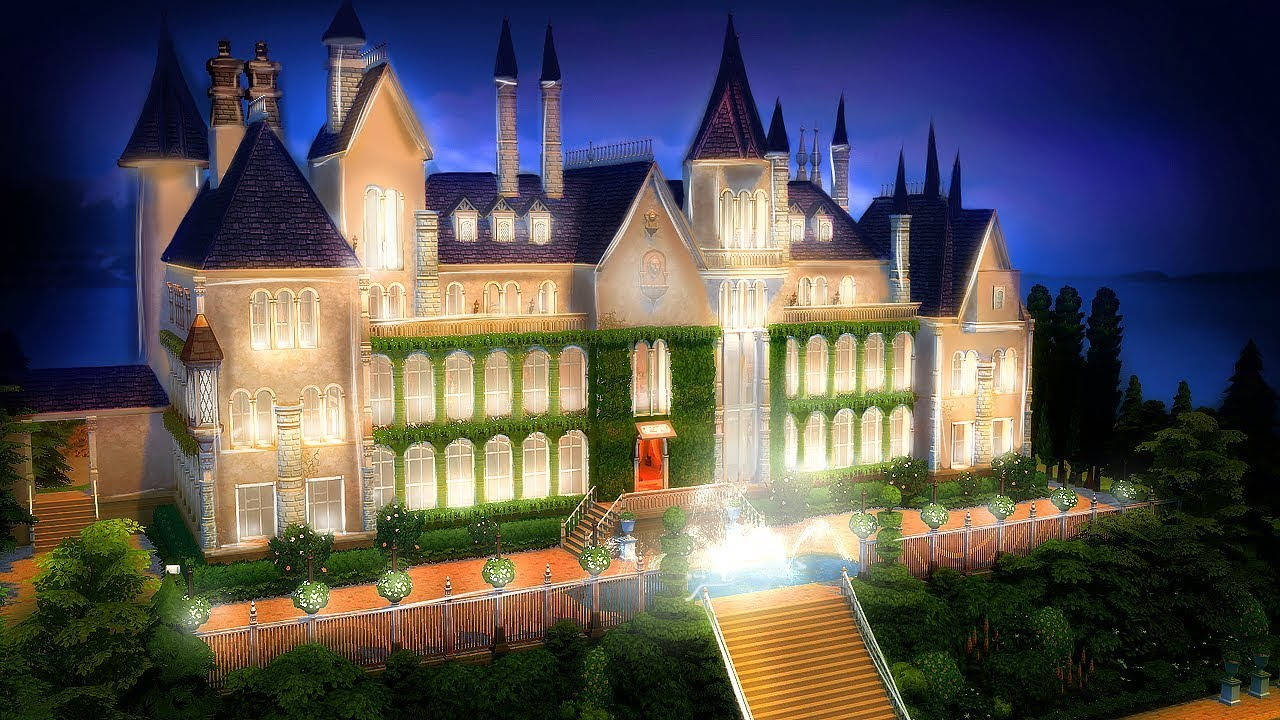 The Sims 4 Great Gatsby S Mansion L Speed Build Youtube