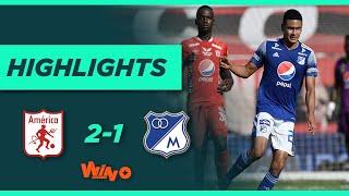 América vs. Millonarios (Goles y Highlights) Liga BetPlay Dimayor 2021-1 | Fecha 16