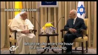 Pope to Shimon Peres: Protect the sanctity of the Holy Places and its pilgrims