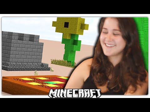 GIRL PLAYS MINECRAFT CREATIVE MODE FOR THE FIRST TIME