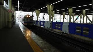 南海なんば駅 1番のりば6000系(6915+6019編成)各停河内長野行 停車