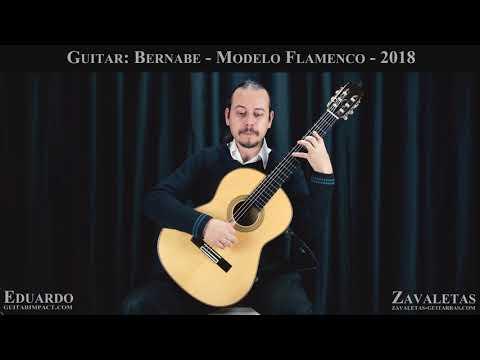 2018 Paulino Bernabe Concert Flamenco Guitar played by Eduardo Costa