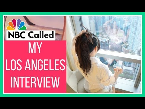 MY LOS ANGELES INTERVIEW WITH NBC!! MY Television DEBUT!