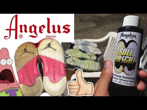How To Unyellow Your Soles! Using SoleBright from Angelus Direct!