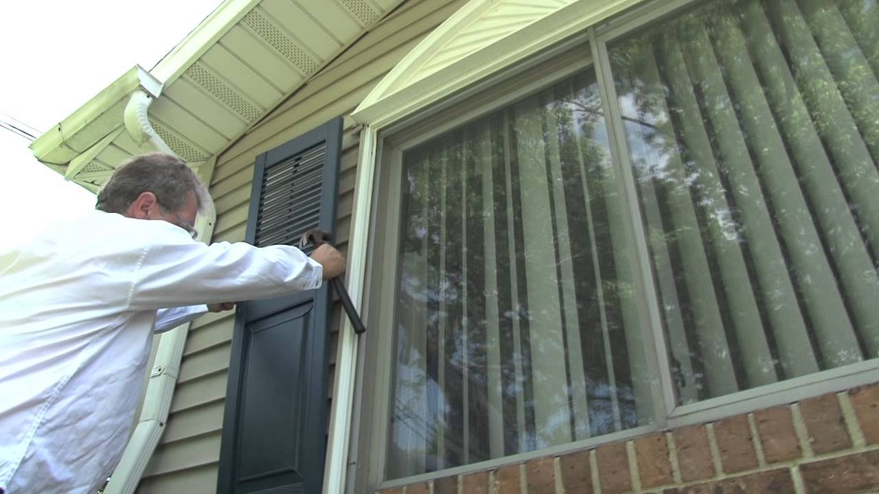 Exterior Shutters Installation Youtube