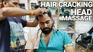 Asmr hair Cracking head massage with neck ear cracking.