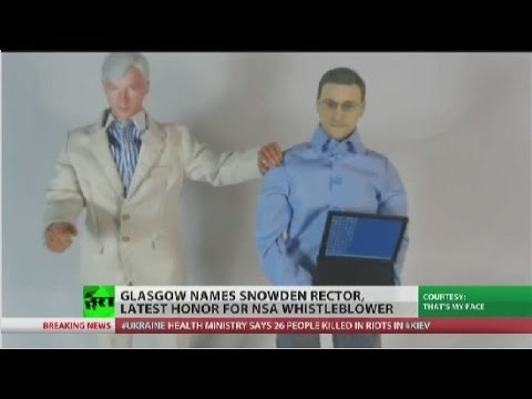 Snowden now an action figure and rector of Glasgow University