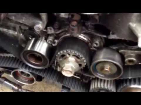 Subaru DOHC timing marks EJ25D failed crankshaft seal