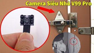 Camera quay lén siêu nhỏ - Camera siêu nhỏ v99 Pro hỗ trợ quay đêm mới nhất 2021