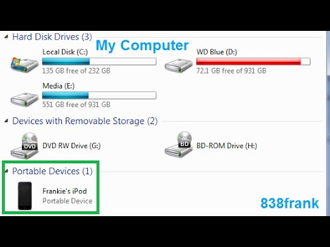 iPhone & iPod not showing up in My Computer fix (Easy Fix!)