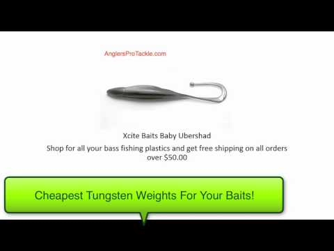 Xcite Baits Baby Ubershad   Plastic Bass Fishing Lures