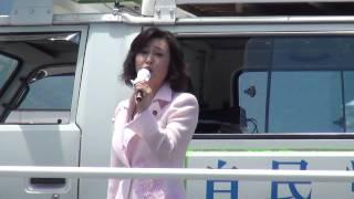 7月8日(月)櫛形「イオン ザ・ビッグ」前での 森屋ひろし応援演説です。