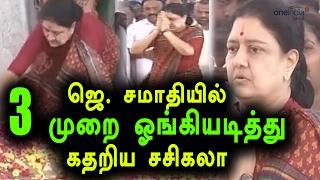 VK Sasikala visits Jayalalithaa