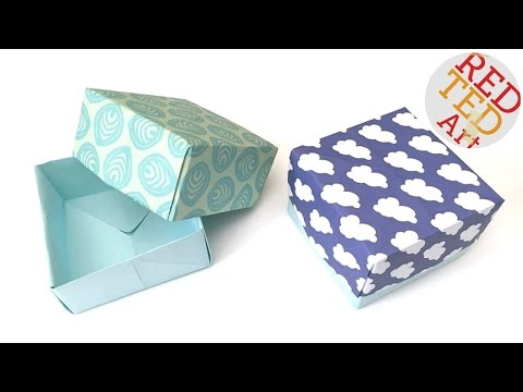 How to Make Paper Box Tutorial - Easy Origami Box
