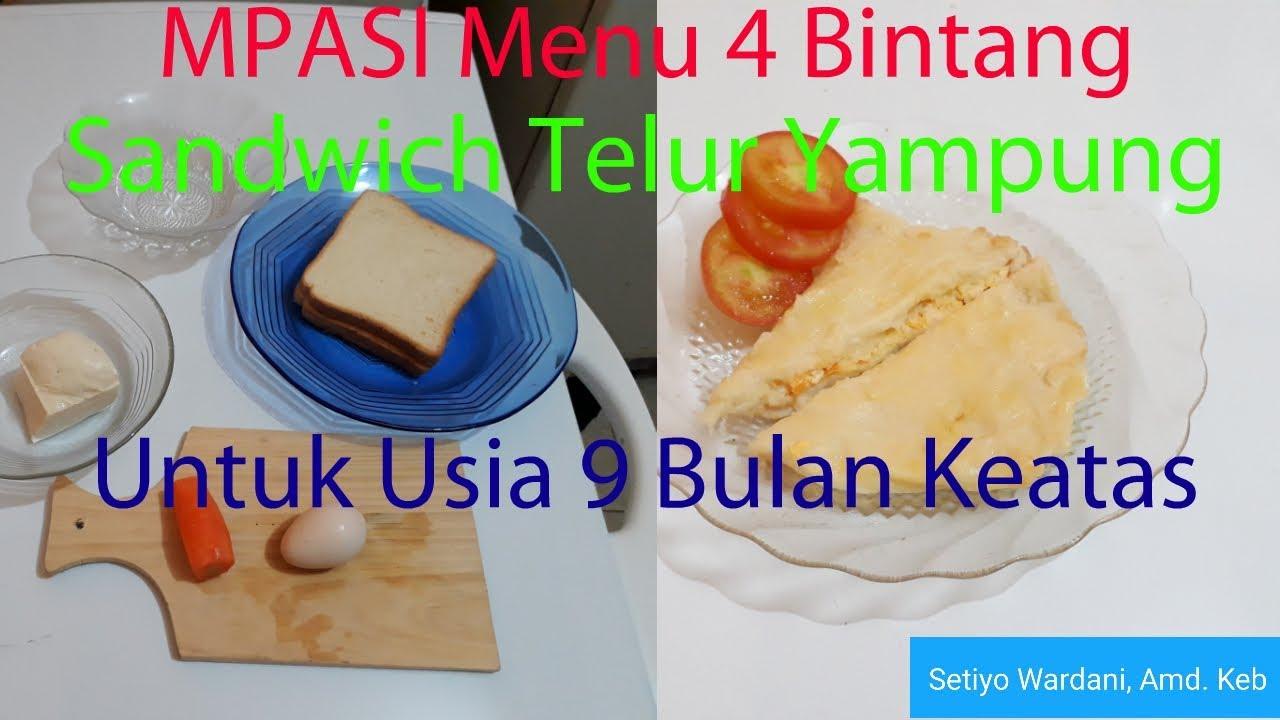 Mpasi Untuk Usia 9 Bulan Keatas Sandwich Telur Ayam Kampung Youtube