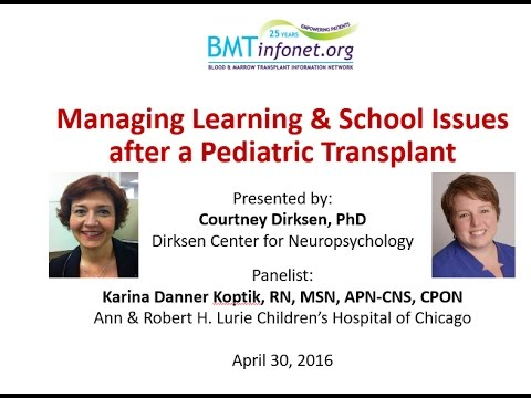 Managing Learning & School Issues after a Pediatric Transplant