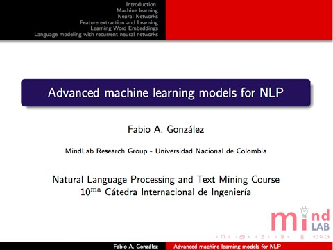 Neural networks in Spanish at Universidad Nacional Colombia 2016