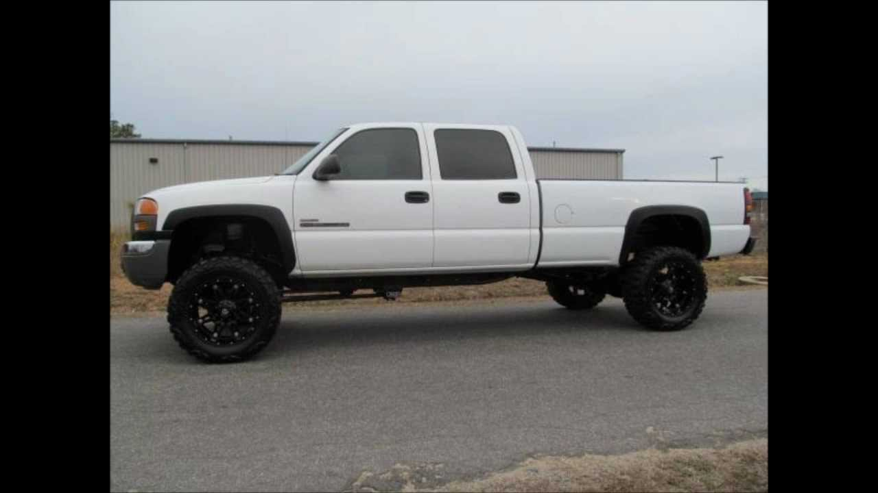 2006 gmc sierra 2500hd diesel lifted truck for sale youtube. Black Bedroom Furniture Sets. Home Design Ideas