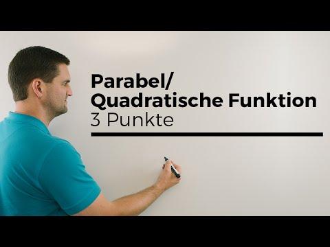 Parabel/Quadratische Funktion aufstellen mit 3 Punkten, nach c umstellen | Mathe by Daniel Jung from YouTube · Duration:  3 minutes 30 seconds
