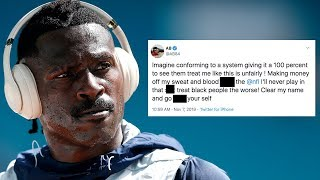 """Antonio Brown SNAPS On Twitter & BLASTS The NFL! """"F The NFL  I'll Never Play!"""""""