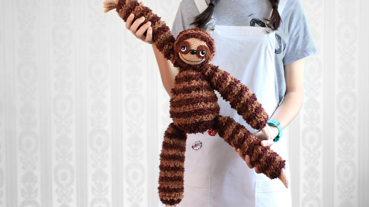 Free Amigurumi Sloth Pattern : Sloth amigurumi free crochet pattern craft passion youtube