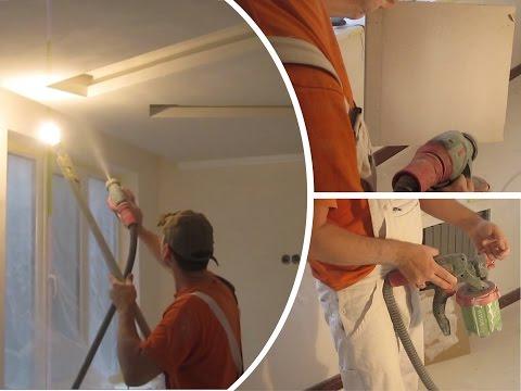 видео: bosch pfs 3000-2 - Покраска потолка