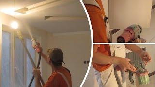 Bosch PFS 3000-2 - Покраска потолка(Покраска подвесного потолка водоэмульсионной краской краскопультом Bosch PFS 3000-2., 2015-11-30T06:43:03.000Z)