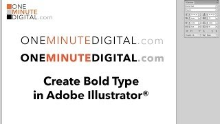 1MD: Create Bold Fonts in Illustrator