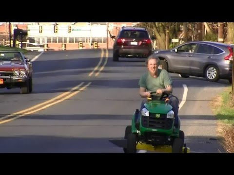 Riding A New John Deere Lawn Tractor Home From Home Depot