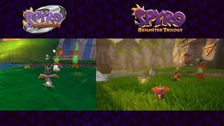 Spyro Reignited Trilogy   Idol Springs PS1 vs. PS4 Comparison