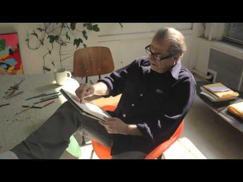 Peter Reginato is Making a Drawing in his Soho Art Studio