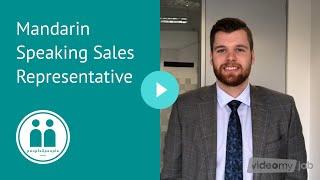 Mandarin Speaking Sales Representative