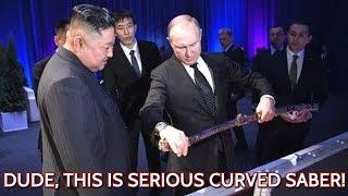 SABER VS SWORD! Putin And Kim Jong Un Exchange Swords at Vladivostok Summit