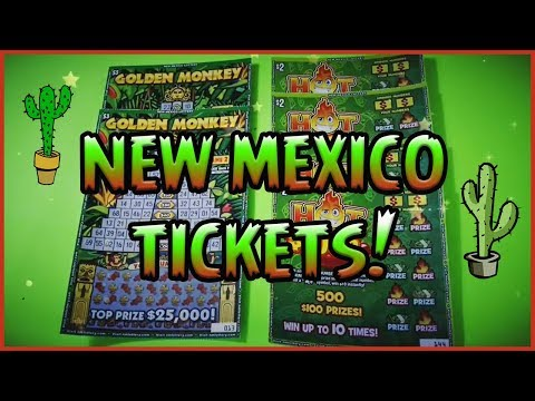 NEW MEXICO TICKETS! (2) $3 Golden Monkey + (4) $2 Hot 100's - NM Lottery Scratchers