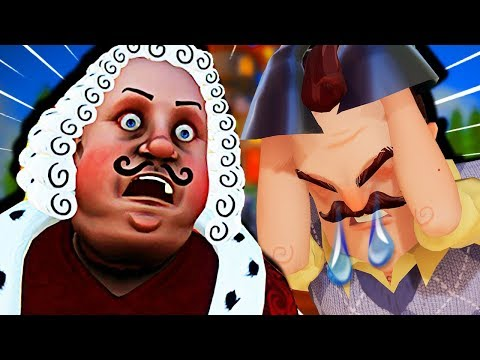 SAYING GOODBYE TO HELLO NEIGHBOR'S LONG LOST GREAT GRANDPA!? | Goodbye My King Gameplay thumbnail