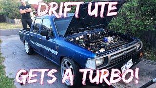 HILUX DRIFT UTE BUILD EP1: TURBO INSTALL!