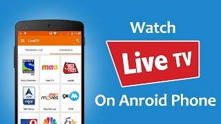How To Watch Live TV on Android For Free? Video
