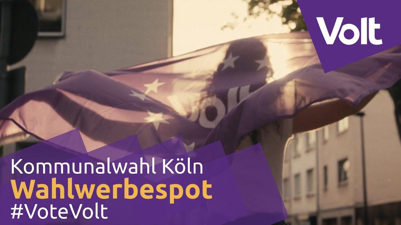 YouTube: Volt Köln Wahlspot Kommunalwahl 2020 #VoteVolt #machkölnlila