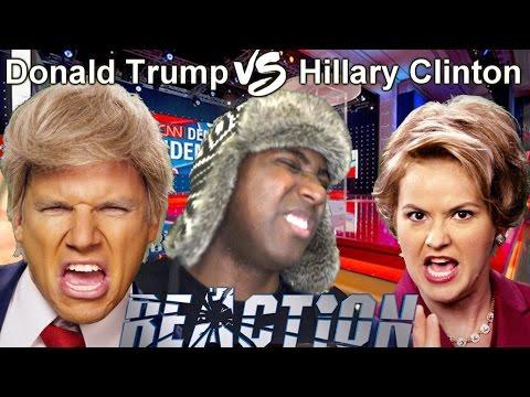 Donald Trump vs Hillary Clinton. Epic Rap Battles of History REACTION!