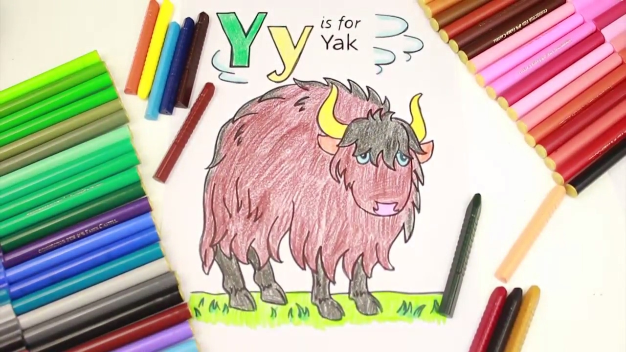 Drawing Alphabets and Coloring | Alphabet Letter Y Coloring ...