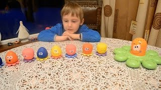 ОСЬМИНОЖКИ TOMY игрушка для ванной Обзор игрушек для МАЛЫШЕЙ ч4