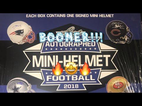 2018 Leaf Autographed Mini Helmet. QB Boomer!