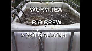 Large 250 Gallon Worm Tea Brew in IBC Totes