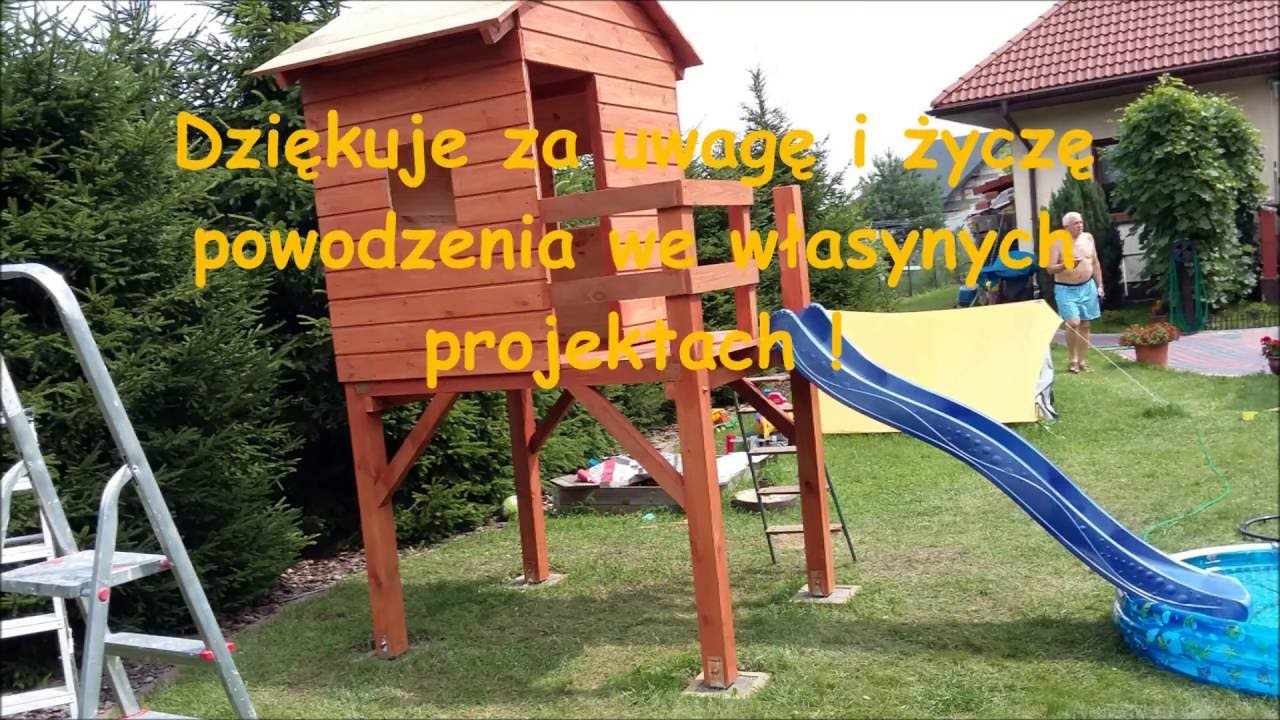 plac zabaw dla dzieci budowakoszty playhouse homemade youtube. Black Bedroom Furniture Sets. Home Design Ideas
