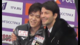 shoma-uno-and-st-phane-lambiel-in-kiss-and-cry-fs-rostelecom-cup-2019-moscow