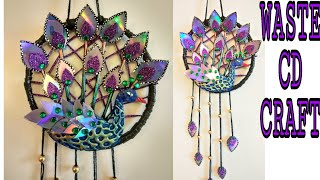 Recycle waste CD craft ideas / CD/DVD craft ideas / Peacock craft