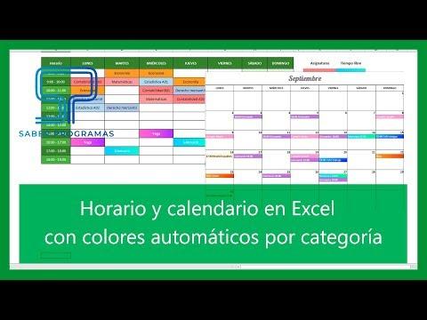Excel   Horario Y Calendario En Excel Con Colores Automáticos. Tutorial En Español HD