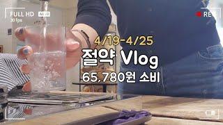 [직장인 Vlog] 절약 브이로그, 일주일 6만5천원 …