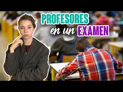 TIPO DE PROFESORES EN UN EXAMEN