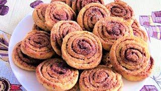 Творожные завитки с корицей - домашнее ароматное, очень вкусное печенье.